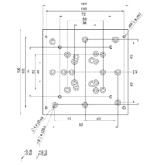 PI M-403.AP3 Adapter Plate Drawing