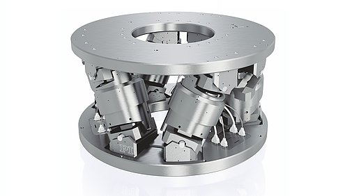 Vacuum-compatible high-load hexapod for precise positioning of loads of up to 1 ton