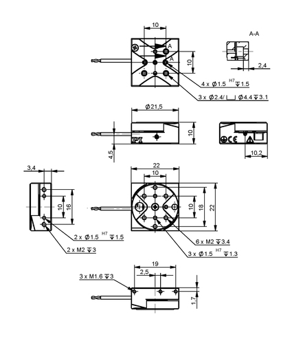 PI Q-622 Drawing