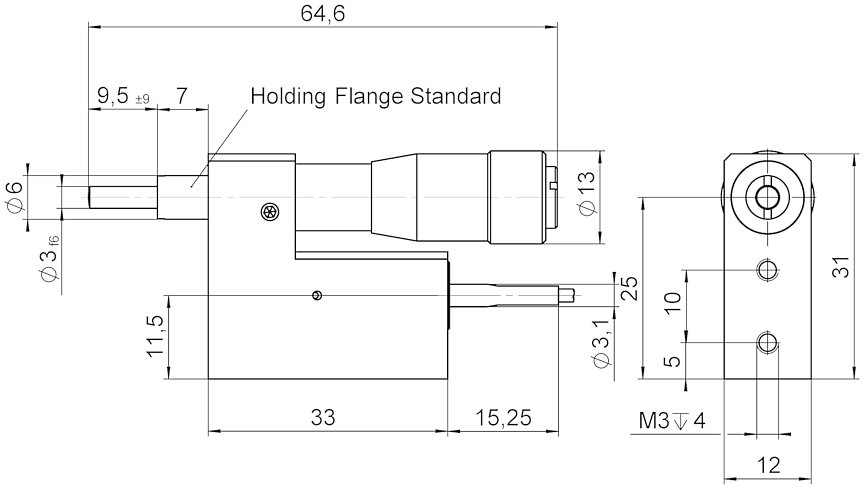 P-854, dimensions in mm