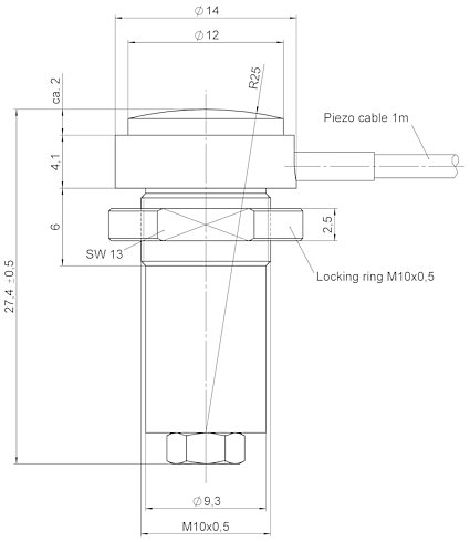 P-855, dimensions in mm
